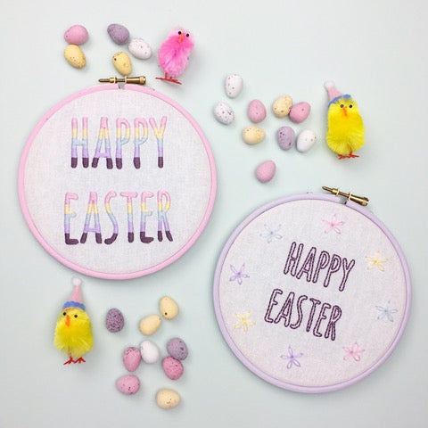 How To Make Easter Embroidery Hoops (With 2 Free Patterns!) | A Guest Post From Hello! Hooray!