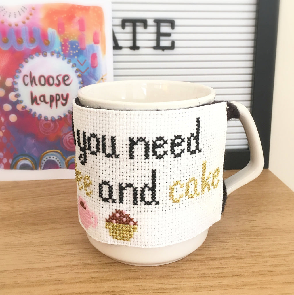 How To Make A Cross Stitch Mug Cosy (With Free Counted Cross Stitch Pattern)