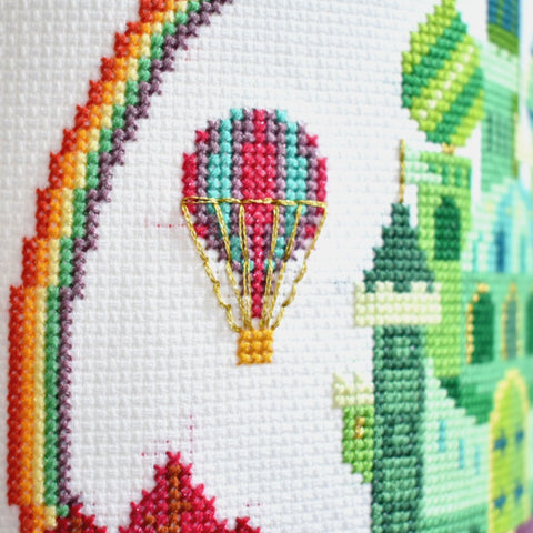 how-to-make-a-cross-stitch-lampshade-close-up