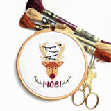 Christmas Reindeer Cross Stitch Kit