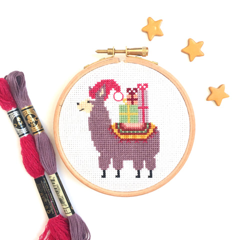 Christmas Llama Cross Stitch Kit