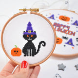 Halloween Cat Cross Stitch Kit