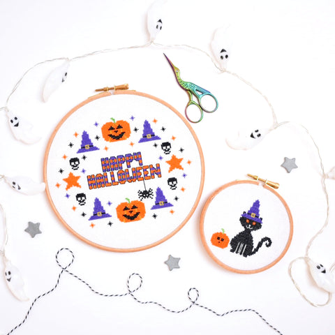Halloween Cross Stitch Kit Set