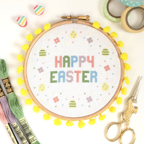 Happy Easter Cross Stitch Kit Set
