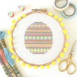 Pastel Easter Egg Cross Stitch Kit