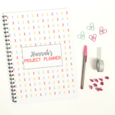 personalised cross stitch project planner a4