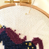 Sleepy Unicorn Cross Stitch Kit