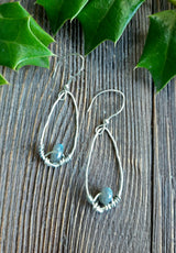 Sterling silver and labradorite teardrop earrings