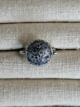 Clay black and silver ring