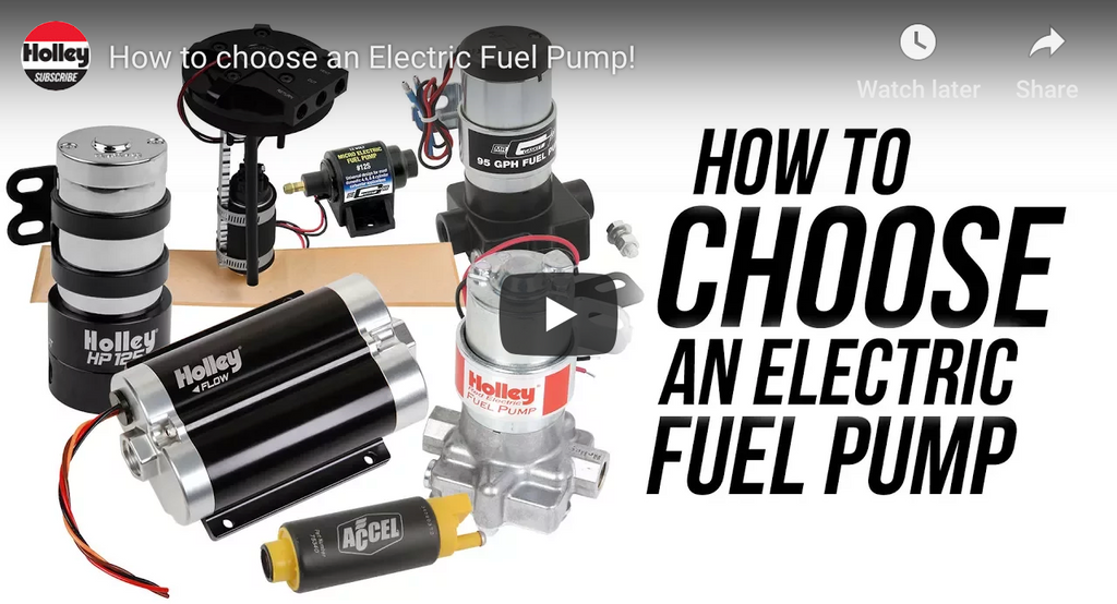 How to Choose an Electric Fuel Pump