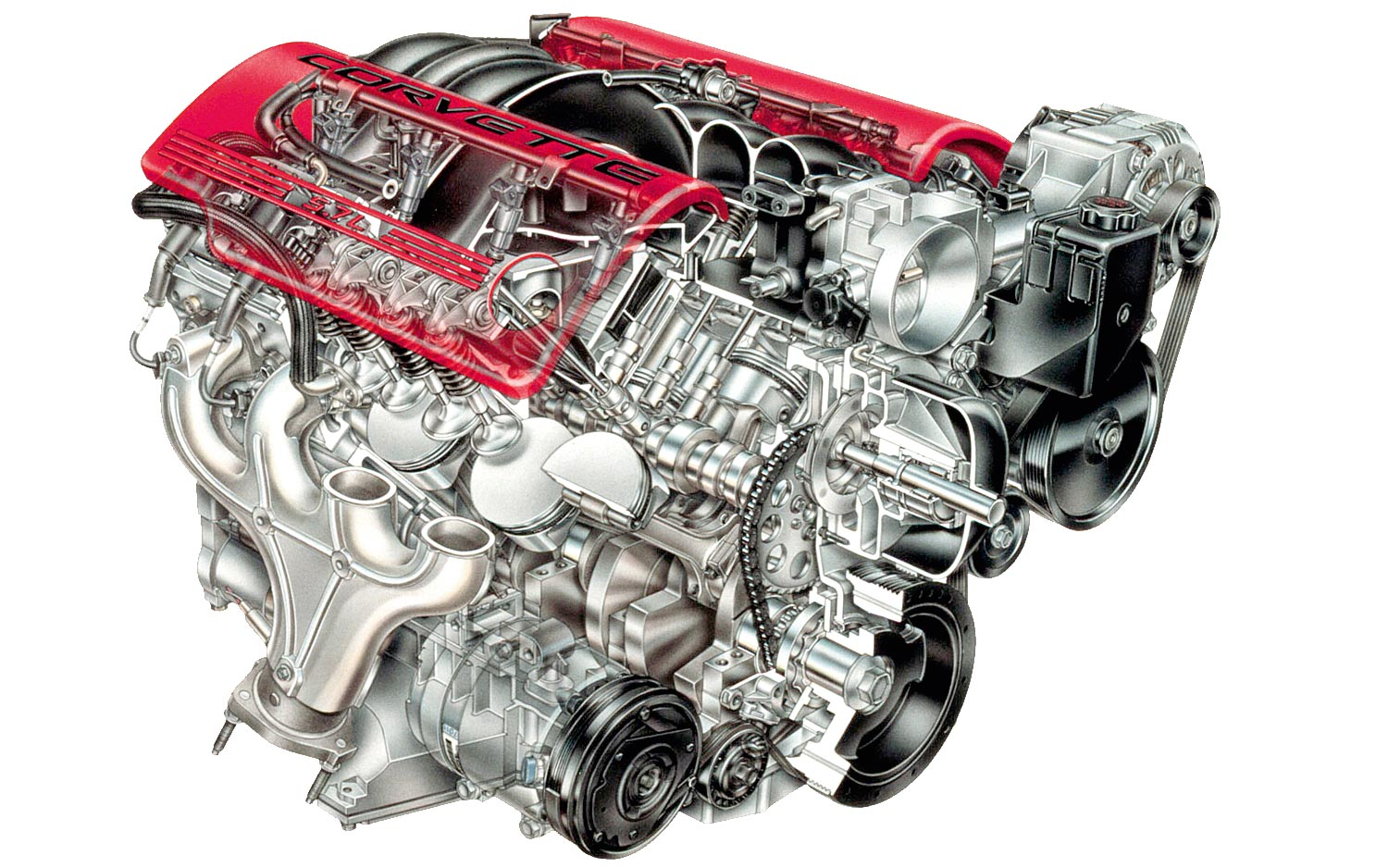 Chevrolet LS Engine Canada cutaway drawing