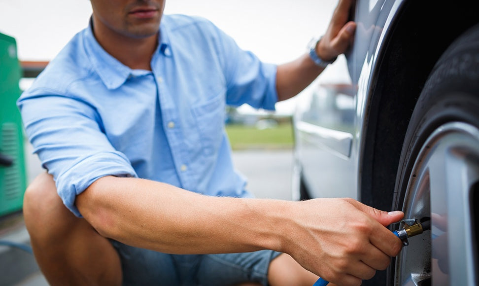 Keep Tires Properly Inflated: Low Tire Pressure Can Lead to Poor Fuel Economy, Loss of Traction, and Dangerous Blowouts