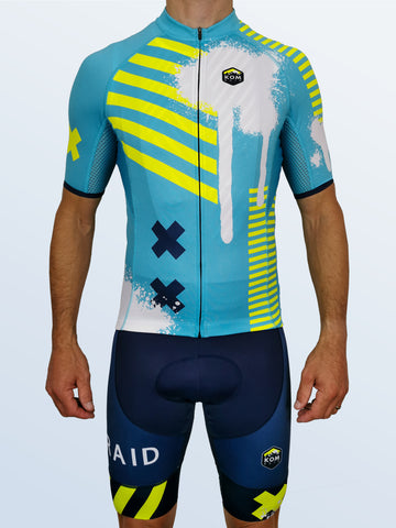 Zephyr 'Cyan Switch' Race Jersey