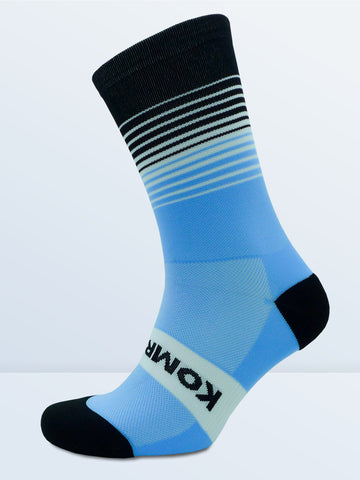 Swagger Socks - Sky Blue & Black