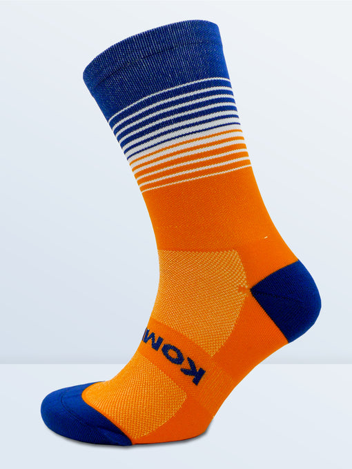 Swagger Socks - Fluro Orange & Blue