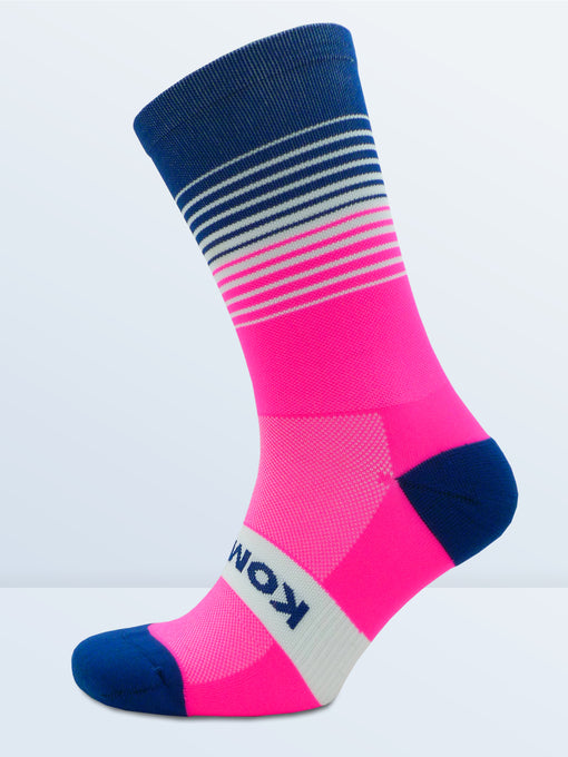 Swagger Socks - Fluro Pink & Blue