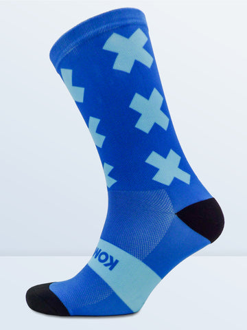 Triple X Socks - Blue & Cyan