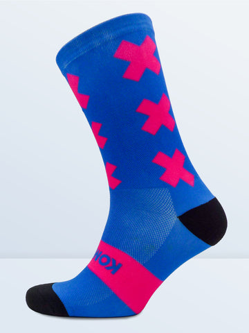 Triple X Socks - Blue & Pink