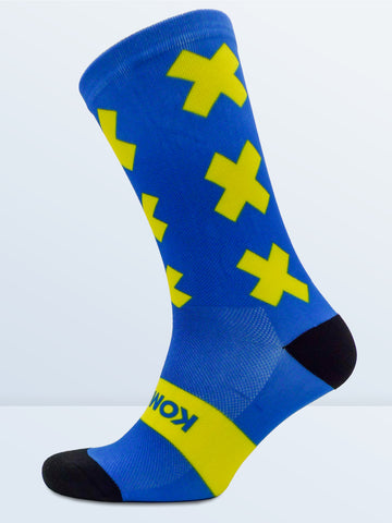 Triple X Socks - Blue & Yellow