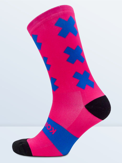 Triple X Socks - Pink & Blue