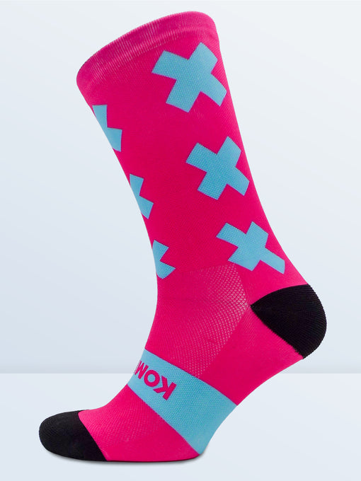 Triple X Socks - Pink & Cyan
