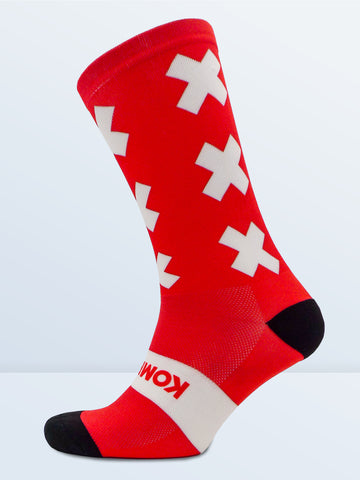 Triple X Socks - Red & White