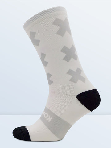 Triple X Socks - White & Grey