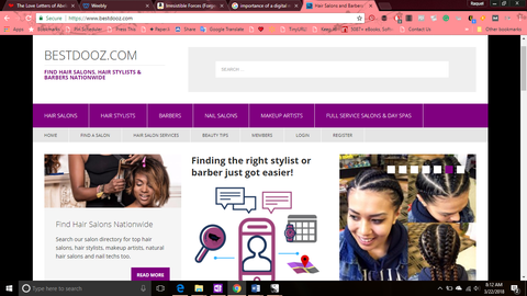 Screenshot of BestDooz - A blog and online salon directory for beauty professionals and stylists who specialize in ethnic hair.