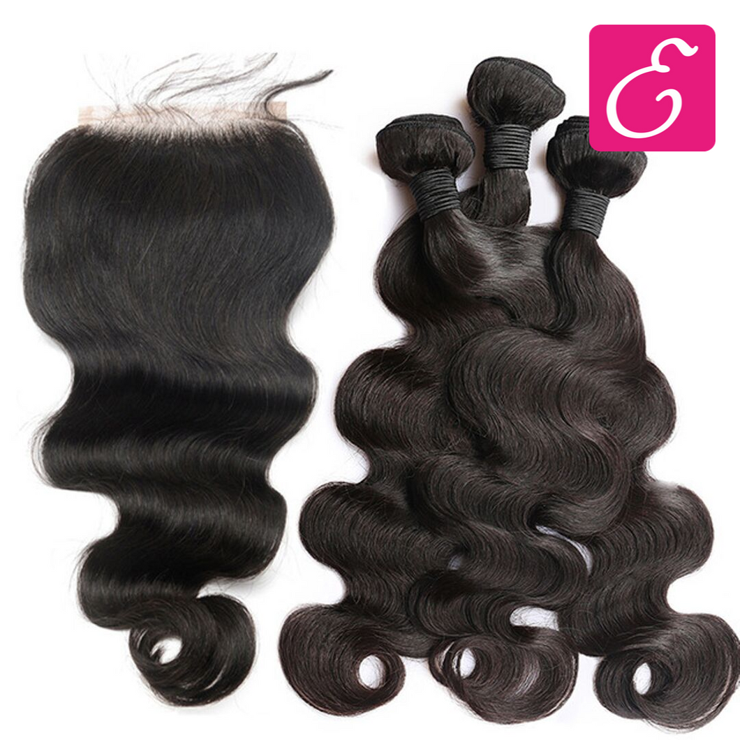 Body Wave Bundle Deal with Closure - ExtenCity Hair