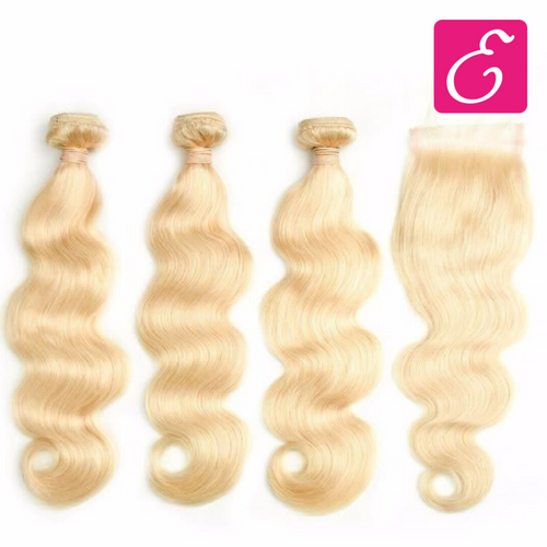 Blonde (613) Body Wave Bundle Deal with Closure - ExtenCity Hair