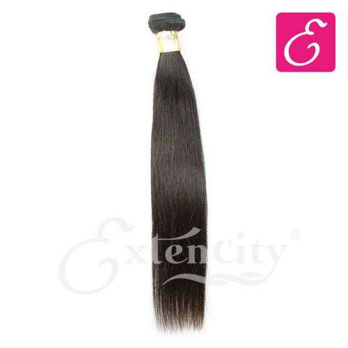 Natural Black Straight Human Hair Weft - ExtenCity Hair
