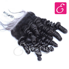 Load image into Gallery viewer, 4x4 Baby Curly Freestyle Part Closure - ExtenCity Hair