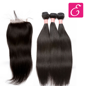 Straight Bundle Deal with Closure - ExtenCity Hair