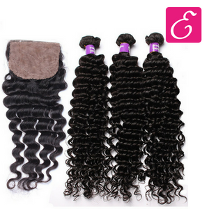 Deep Wave Bundle Deal with Closure - ExtenCity Hair