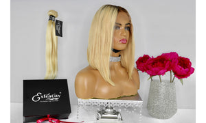 Premium Blonde (T3/613) Bob Unit - ExtenCity Hair