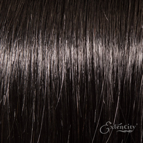 Jet Black (#1) Human Hair 10 Piece Clip-ins - ExtenCity Hair