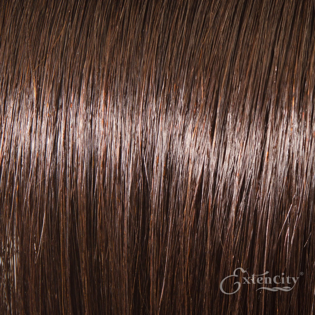 Darkest Brown (#2) Human Hair 10 Piece Clip-ins - ExtenCity Hair