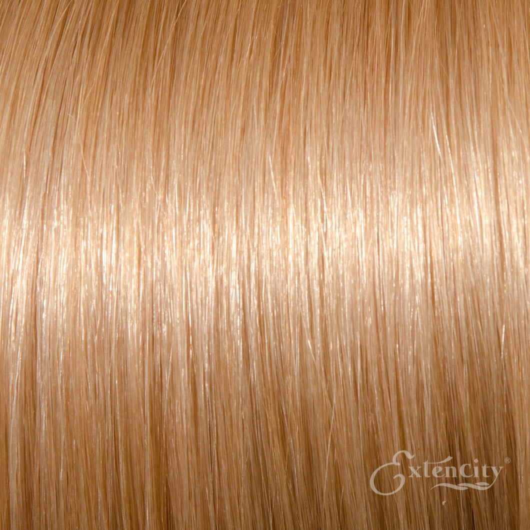 Light Ash Blonde/Medium Blonde (#22) Human Hair 10 Piece Clip-ins - ExtenCity Hair