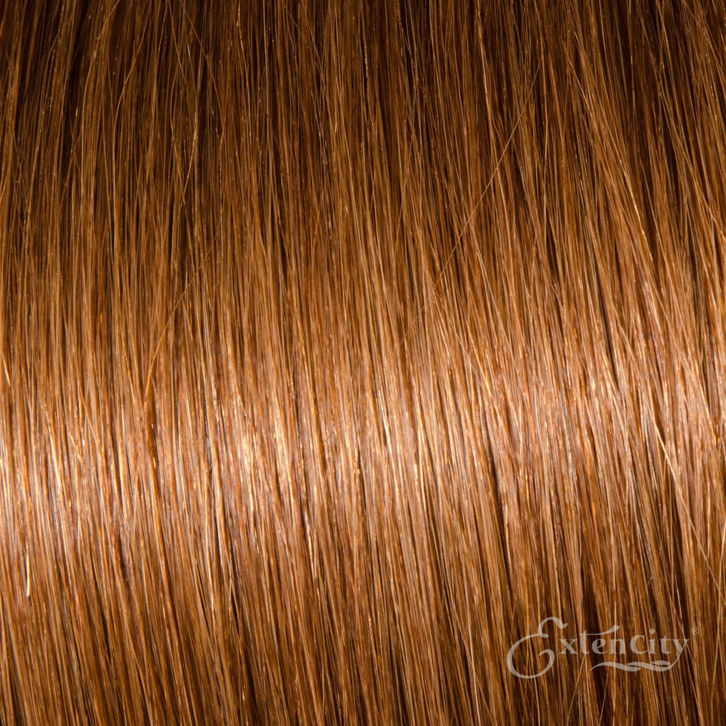 Medium Auburn (#30) Human Hair 10 Piece Clip-ins - ExtenCity Hair