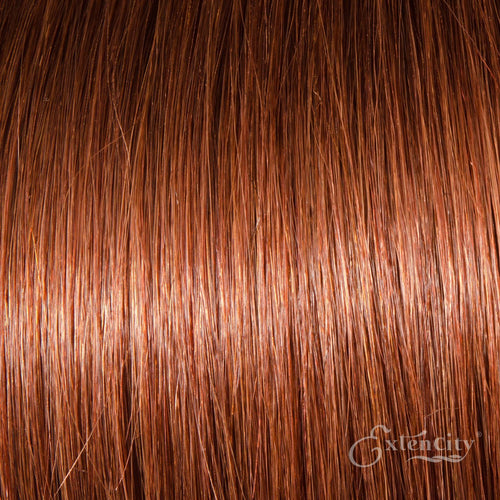 Dark Auburn (#33) Human Hair 10 Piece Clip-ins - ExtenCity Hair