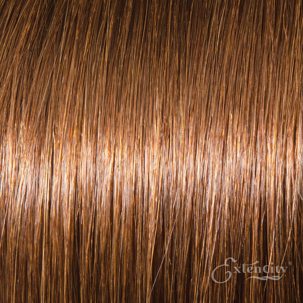 Chestnut Brown (#6) Human Hair 10 Piece Clip-ins - ExtenCity Hair