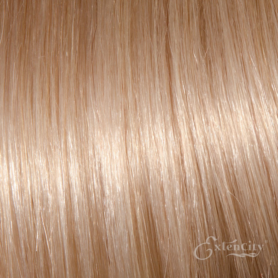 Platinum Blonde (#60) Human Hair 10 Piece Clip-ins - ExtenCity Hair