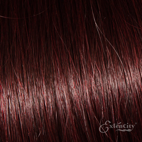 99J Dark Wine Human Hair 10 Piece Clip-ins - ExtenCity Hair