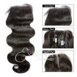 Closure - 4x4 Body Wave Freestyle Part Closure