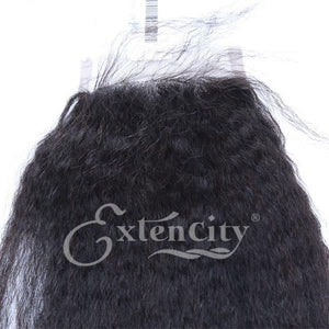 4x4 Kinky Straight Freestyle Closure - ExtenCity Hair