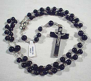 Black Bead (Cocoa Beads) Rosary.