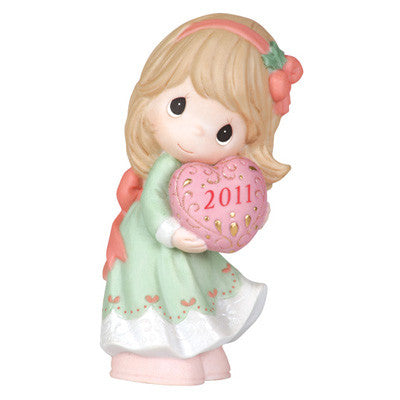 "Precious Moments Dated 2011  ""Love Is The Best Gift Of All"" Figurine"