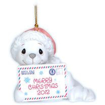 "Precious Moments 2012 Dated  Ornament ""Sealed With A Kiss"""