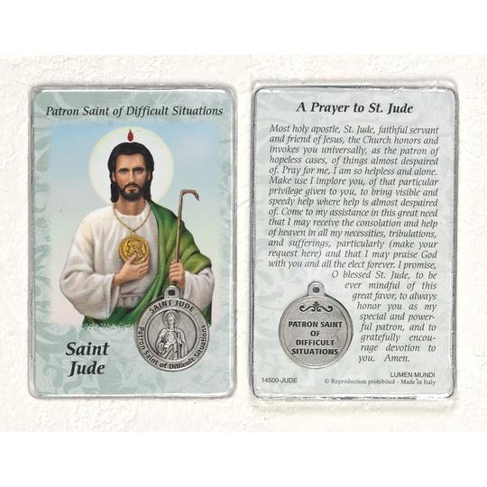 St Jude Prayer Card w/ Medal