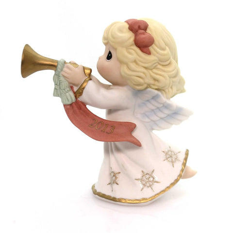 "Precious Moments 2013 Dated  ""Peace On Earth And Goodwill To All"" Figurine"